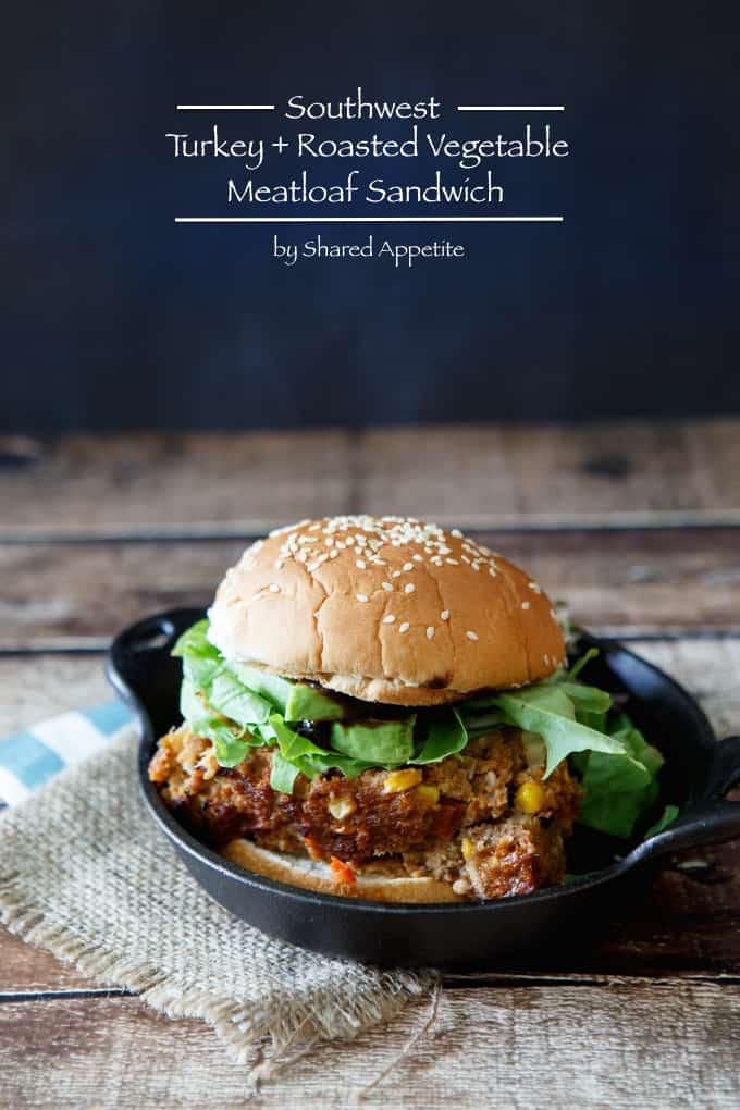 Southwest Turkey and Roasted Vegetable Meatloaf Sandwich