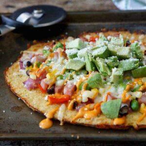 Southwestern Cauliflower Crust Pizza
