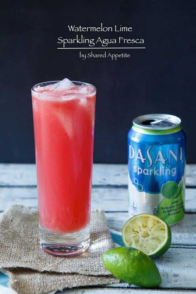 This Watermelon Lime Sparkling Agua Fresca is a cool and refreshing ...