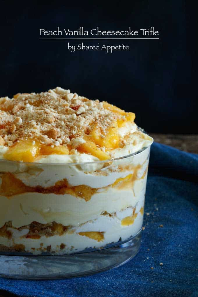 Delicious Recipes Peach Vanilla Cheesecake Trifle