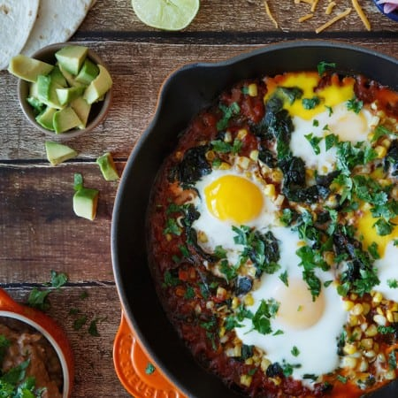 Quick and Easy Baked Huevos Rancheros