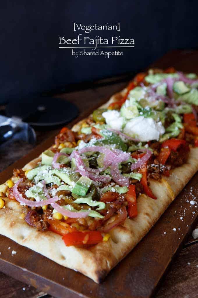 Vegetarian Beef Fajita Pizza
