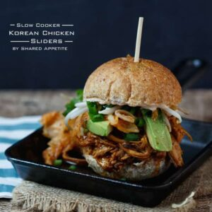 Slow Cooker Korean Chicken Sliders