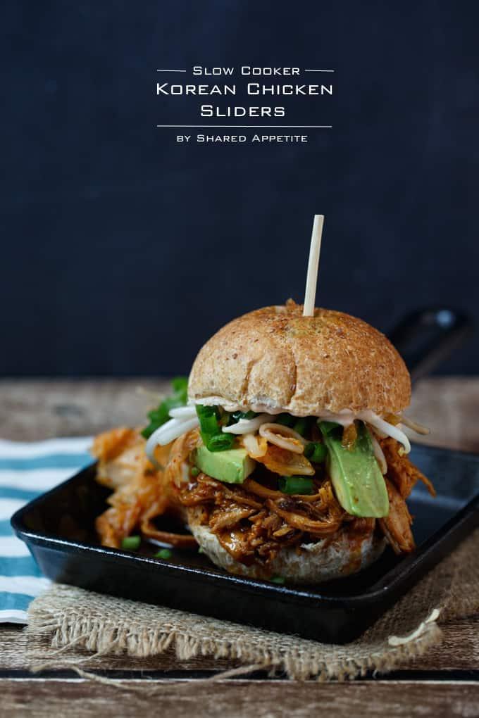 Slow Cooker Korean Chicken Sliders