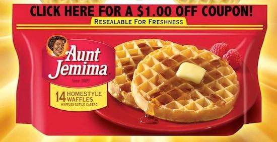 Aunt Jemima Frozen Waffle Coupon Image