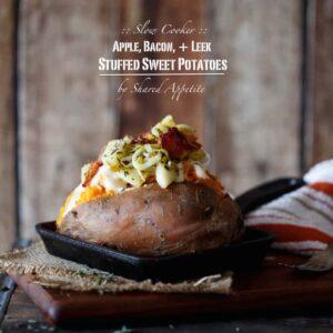 Apple, Bacon, and Leek Stuffed Sweet Potatoes (+ GIVEAWAY!)