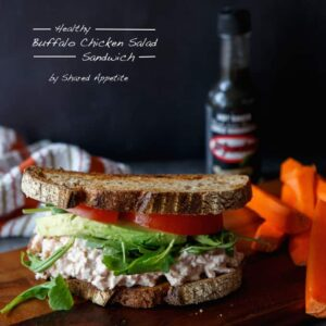 Healthy Habanero Buffalo Chicken Salad Sandwich