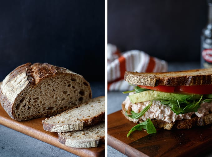 healthy buffalo chicken salad sandwich
