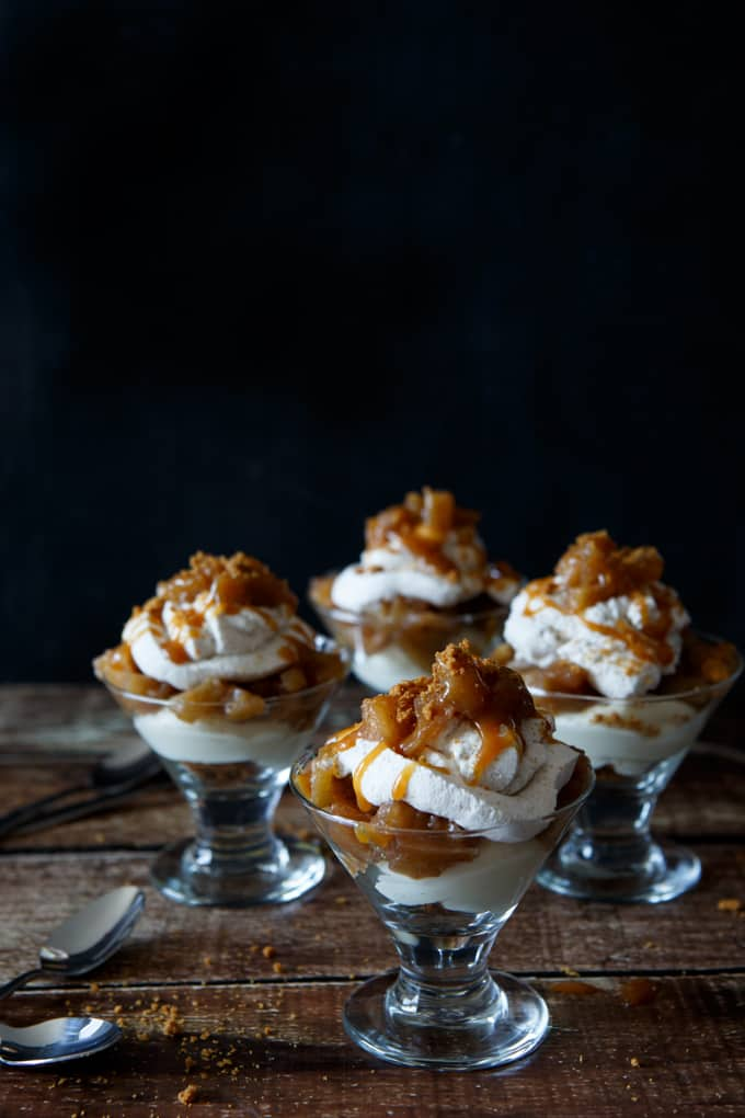 no bake caramel apple cheesecake trifle