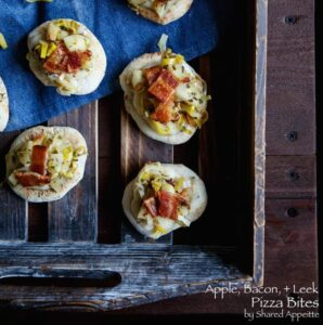 Apple, Bacon, and Leek Pizza Bites