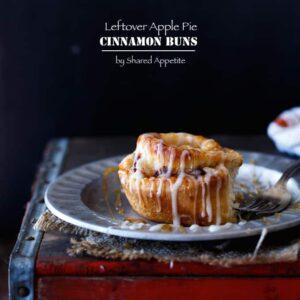 Leftover Apple Pie Cinnamon Buns | sharedappetite.com