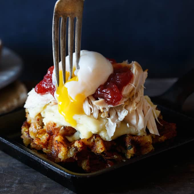 Leftover Thanksgiving Stuffing Waffles - Shared Appetite