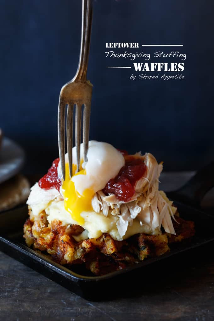 Leftover Thanksgiving Stuffing Waffles | sharedappetite.com