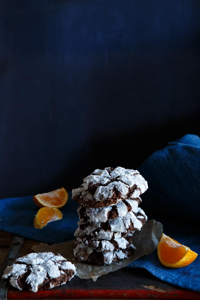 Chocolate Orange Truffle Cookies | sharedappetite.com