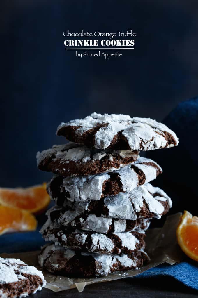 Chocolate Orange Truffle Cookies | sharedappetite.com