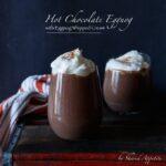 Hot Chocolate Eggnog with Eggnog Whipped Cream | sharedappetite.com