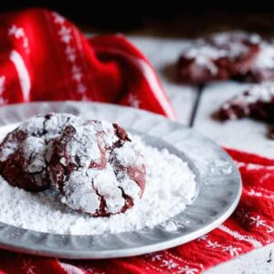 Red Velvet Peppermint Chocolate Chip Cookies | sharedappetite.com