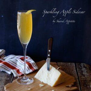 Sparkling Apple Sidecar | sharedappetite.com