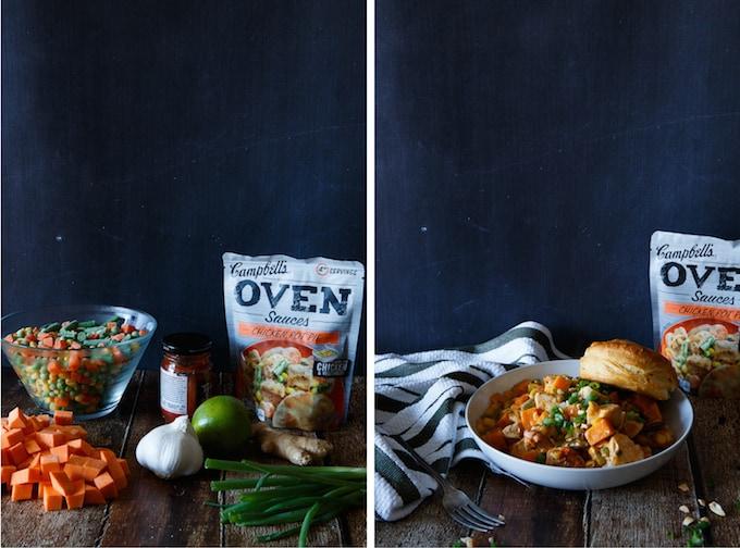 Quick and Easy Thai Chicken Pot Pie | sharedappetite.com