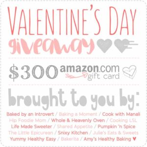 $300 Amazon Gift Card Valentine's Day Giveaway!