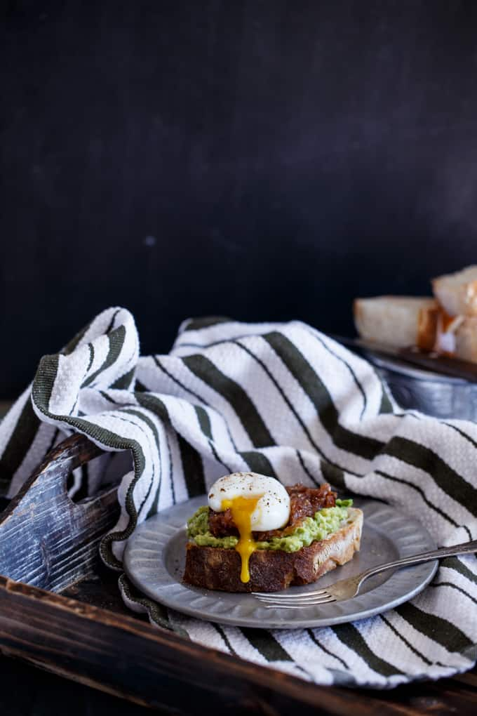 Bacon Jam + Egg Avocado Toast | sharedappetite.com