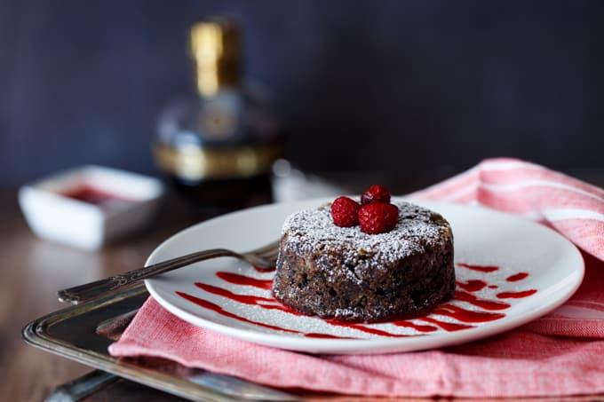 Chocolate Chambord Donut Bread Pudding   sharedappetite.com