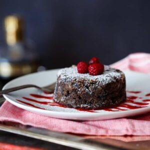 Chocolate Chambord Donut Bread Pudding | sharedappetite.com