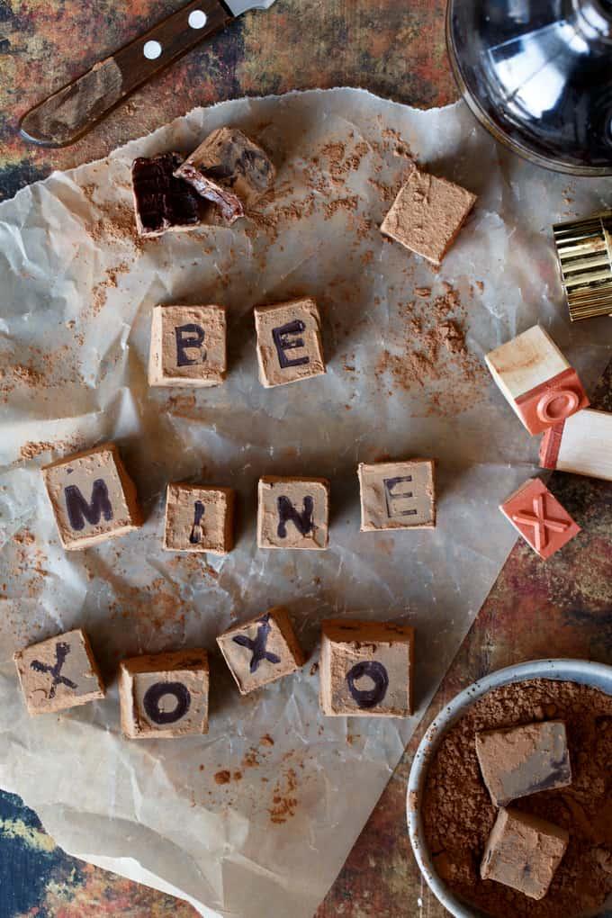 Personalized Chocolate Chambord Truffles | sharedappetite.com