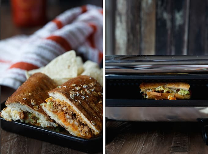 Cinnamon Chili Pork, Sweet Potato, and Avocado Panini | sharedappetite.com