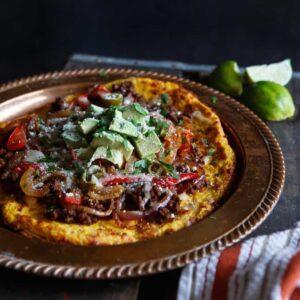 Gluten-Free Fajita Beef Spaghetti Squash Pizza