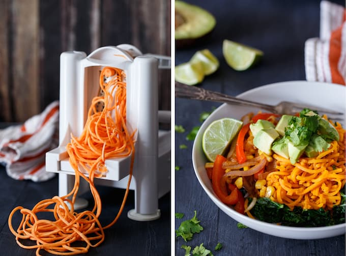 Southwest Sweet Potato Noodle Bowl | sharedappetite.com
