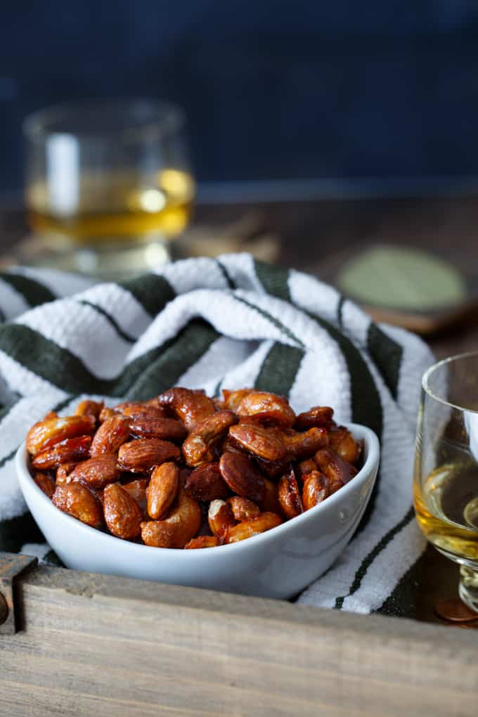 Candied Harissa Spiced Nuts | sharedappetite.com