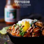 Korean Pork Kimchi Sweet Potato Totchos | sharedappetite.com