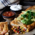 Southwest Chicken Stromboli | sharedappetite.com