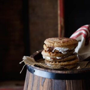 Nutella and Marshmallow Churro Donut Panini