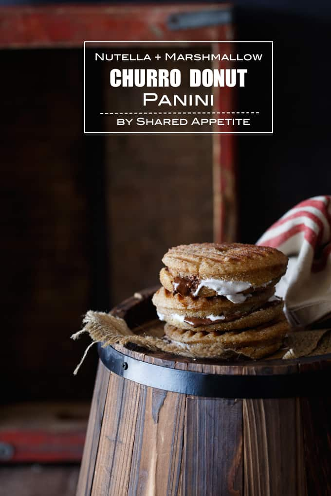 Nutella + Marshmallow Churro Donut Panini   sharedappetite.com