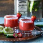 Roasted Strawberry Jalapeno Margarita | sharedappetite.com