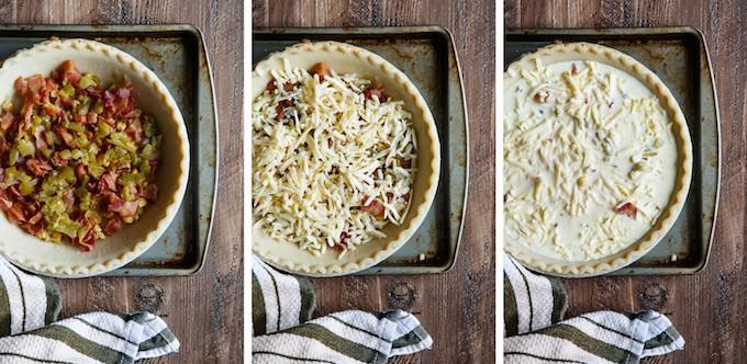 Southwest Bacon and Caramelized Onion Quiche | sharedappetite.com