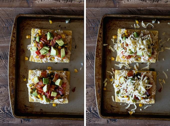 Southwest Tuna Melt with Roasted Corn Poblano Salsa, Avocado, and Bacon | sharedappetite.com #wildcanfan