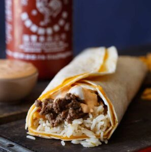 Taco Bell Sriracha Quesarito Copy Cat Recipe | sharedappetite.com