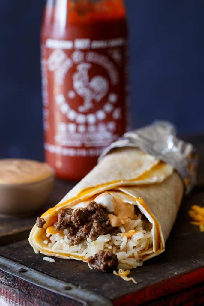 Taco Bell Sriracha Quesarito Copy Cat Recipe | sharedappetite.com