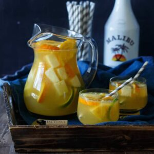 Tropical Pineapple Coconut Sangria | sharedappetite.com