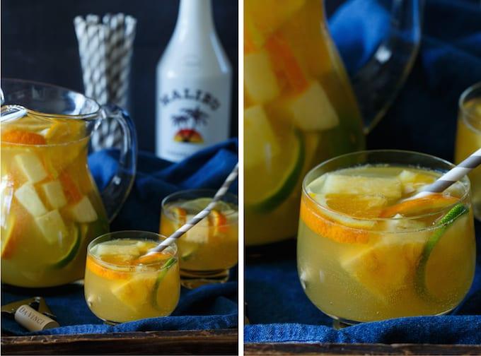 Tropical Pineapple Coconut Sangria   sharedappetite.com