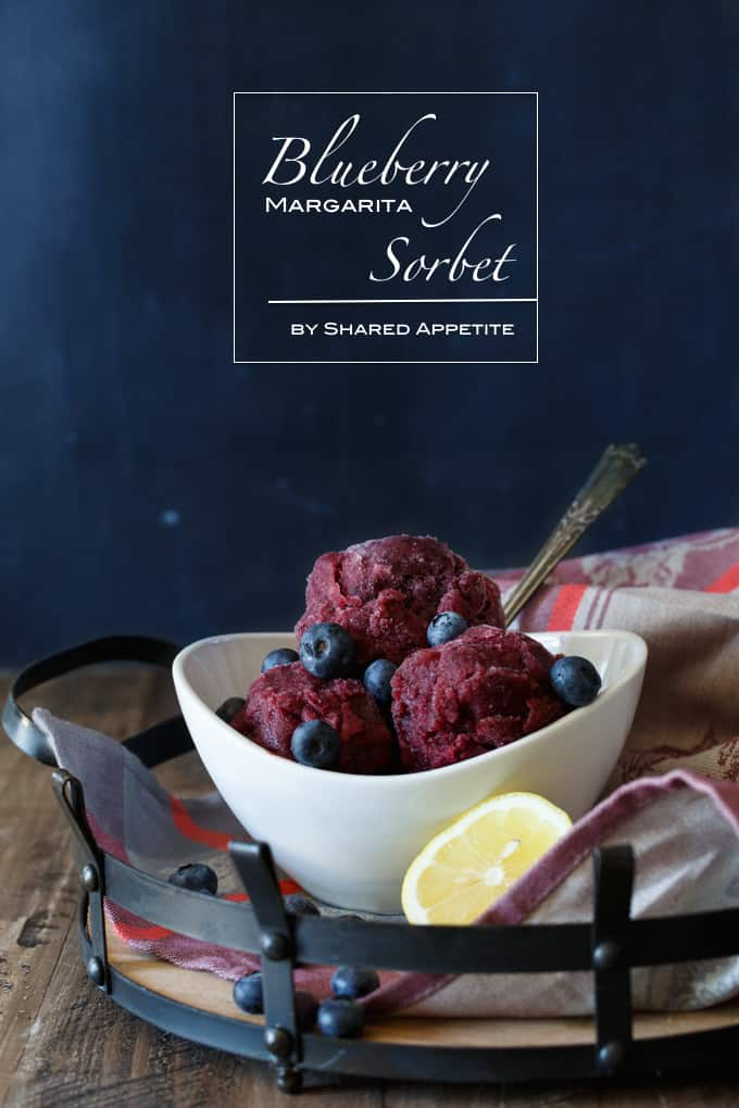 Blueberry Margarita Sorbet | sharedappetite.com