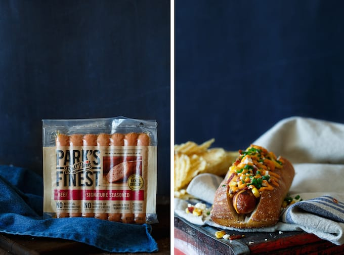 Bacon Mexican Street Corn Hot Dogs | sharedappetite.com