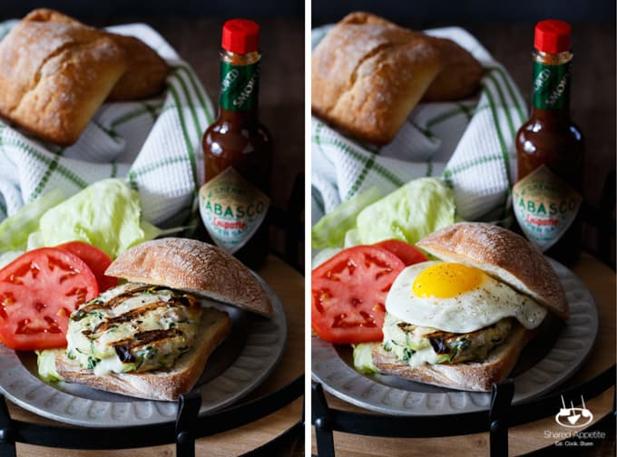 Chicken, Zucchini, and Mozzarella Burgers | sharedappetite.com