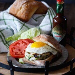 Chicken, Zucchini, and Mozzarella Burgers | sharedappetite.com