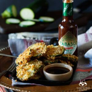 Fried Zucchini with Chipotle Honey Dipping Sauce