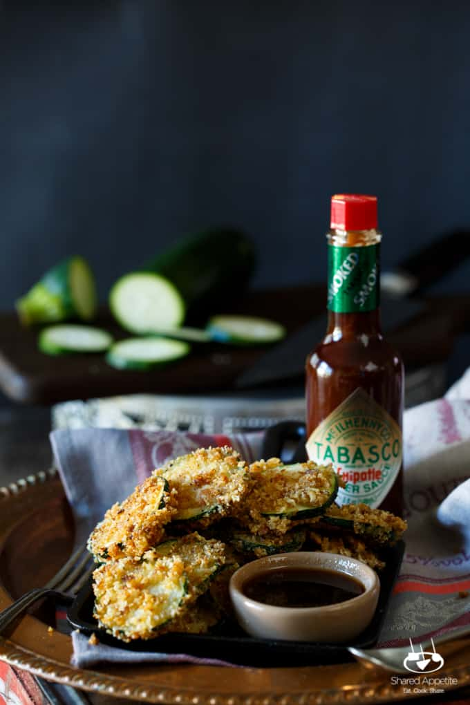 Fried Zucchini with Chipotle Honey Dipping Sauce | sharedappetite.com