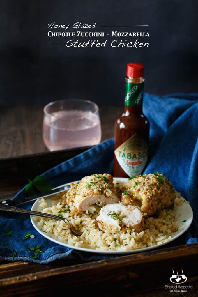 Honey Glazed Chipotle Zucchini + Mozzarella Stuffed Chicken | sharedappetite.com